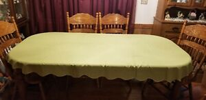 "Sage Green Scalloped Edge 57"" x 90"" Tablecloth"