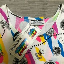 VINTAGE 80'S RIP CURL DEADSTOCK ALL OVER PRINT T-SHIRT - RETRO RIPCURL TEE