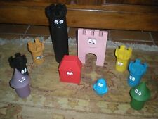 LOT DE 10 FIGURINES POUETS BARBAPAPA CHATEAU FORT  28 A 8 CM PLASTOY 2008
