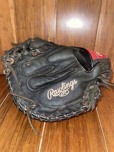 "Rawlings Premium Series D325BWCM Black Catcher's Mitt 32.5"" Baseball RHT"
