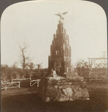 Monument to Fallen German Soldiers Made From Unexploded Shells. Stereoview 6