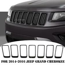 For 2014-2016 Jeep Grand Cherokee Front Grille Grill Vent Hole Trim Ring Insert