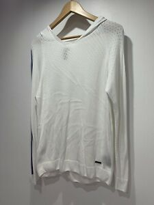 Sweaty Betty White Knitted Hoodied Top Size S (with Merino Wool)
