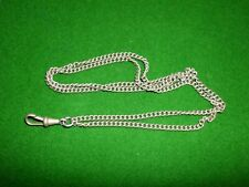 VINTAGE STEEL 2 DOUBLE ALBERT CHAIN with SINGLE FASTENING CLAW  ~ WATCH CHAIN
