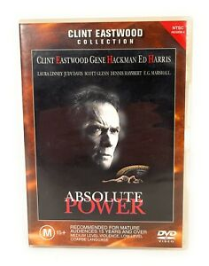 Absolute Power DVD RARE Clint Eastwood Region 4 Free Postage