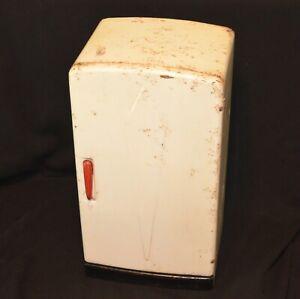 "VINTAGE 1950's MARX TOYS DOLL SIZED TIN METAL KITCHEN SET 14"" REFRIGERATOR"