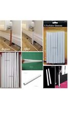 8pk 20cm PVC White Plastic Radiator Pipe Covers Sleeves Home Standard Easy Fit