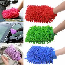 Set of 3 Microfiber Premium Wash Mitt Gloves House Car Glass LCD Cleaning