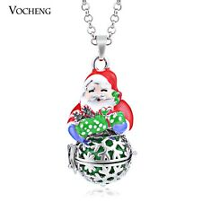 Vocheng Baby Chime Christmas Snowflake Necklace Stainless Steel Chain VA-105