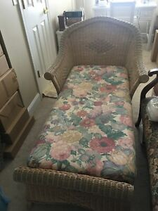 Henry Link Wicker Chaise Lounges (set)