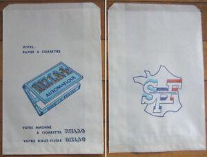 Cigarette Rolling Papers 'Riz La' 1940s Advertising Bag / Sac