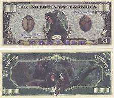 100 Black Panther Cat Feline Million Dollar Novelty Currency Money Bill Lot #187
