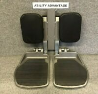 Permobil - Center Mount Footplates, Legrests, Pads. Fit Corpus ll. Barely Used.