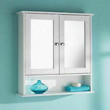 G-0060 Double Door Mirror With Shelf Wooden Bathroom Cabinet DAM BOX