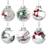 Christmas Tree Pendant Hanging Home Ornament Christmas Decoration Ball Plastic