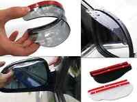 2 Pcs Universal Rear View Black Side Mirror Rain Snow Shield For Car Auto Black