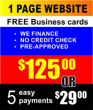 Custom Designed Small Business Website Free Business Cards Mobile Friendly