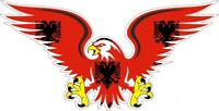 sticker decal car biker motorcycles eagle flag albani albanian