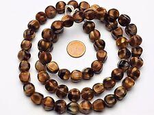 Cateye bohemian beads / Katzenauge Glas Perlen runde nuggets