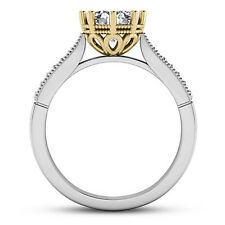 Solitaire 8 Prong .97 Carat SI1/D Round Diamond Engagement Ring 14K White Gold