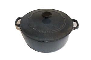 Cuisinart Cast Iron 7 Qt Dutch Oven c1670-30 Ceramic Lining Good Condition