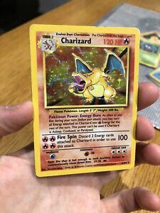 Charizard Base Set Pokemon Card 4/102 PL Rare Holo 1st  Unlimited Edition