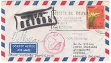 Sobre Correo Aéreo Bolivia. Vuelo Inaugural La Paz-Koln 4-11-1974