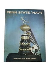 Football Program Penn State Navy September 21, 1968 Joe Paterno