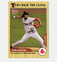 2020 TOPPS NOW TURN BACK THE CLOCK CARD BOSTON RED SOX PEDRO MARTINEZ #210