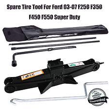 Spare Tire Tool For Ford 03-07 F250 F350 F450 F550 Super Duty Kit + Scissor Jack