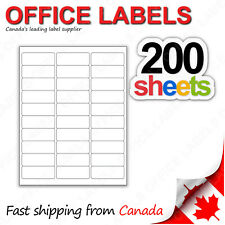 200 Sheets of Address Labels 1'' x 2-5/8'' 30up 6000 Labels FBA