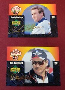 1998 UD DALE EARNHARDT & RUSTY WALLACE Pop Weaver Gourmet Popcorn Cards