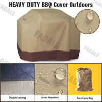 58'' Width Waterproof BBQ Cover Garden Patio Gas Barbecue Grill Protection PQ5PB