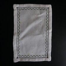 Napperon rectangle fil coton textile ameublement art déco fait main Italie N5098