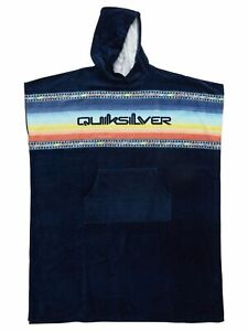 QUIKSILVER MENS PONCHO TOWEL.HOODY BLUE HOODED SURFER BEACH CHANGING ROBE S21