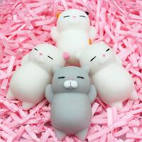 Cute Mochi Squishy Cat Squeeze Healing Fun Kids Kawaii Toy Stress Reliever 4pcs