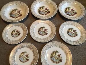 Vintage Limoges Plates Made in USA 22K Gold Dinner Plates 22k Warranted Gold 3335