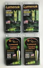 Burt Coyote Lumenok Lighted Crossbow Xbow Bolt Nocks Green Half Moon Nock Qty 4