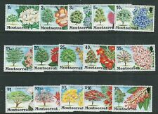 MONTSERRAT 1976 FLOWERING TREES long set (Scott 340-54) VF MNH