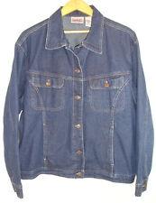 Bill Blass Womans Jeans Blue Denim Jacket Metal Buttons Chest Pockets Plus 2X