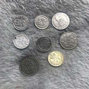 Three Sixpences And Five Threepences Victorian,George V and V1