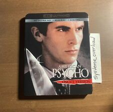 American Psycho Uncut (4K Ultra Hd + Blu-ray) w/ Rare Slipcover Horror