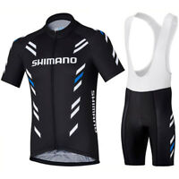Mens Cycling Jersey Bib Short Bicycle Bike Motocross MTB Shirt Team Shimano Ride