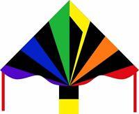 Cometa una Cuerda Infantil Otoño Delta de Sola Piola Simple Flyer Negro Rainbow