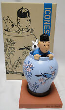 New Tintin Potiche vase, the Blue Lotus jar Herge resin statue