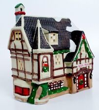 """Dickens Village Holiday Mantel-Buffet Decorations Collectible """"Quilt Shop"""""""