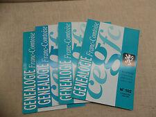 LOT Généalogie Franc-Comtoise 4 Bulletins Année 2005 Complète Franche-Comté