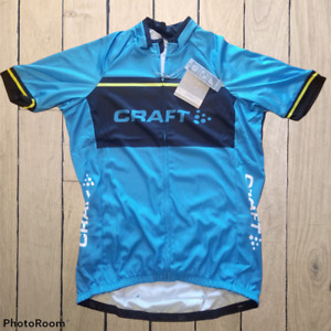 Craft Jersey Men's Bike Bicycling Cycling Sport Athletic Riding Shirt L SPF 50+
