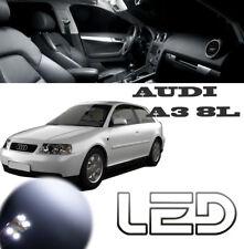 AUDI A3 8L Pack 14 bombillas LED Blanco iluminación luz techo maletero Espejos
