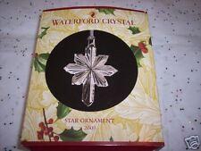 Waterford 2003 CRYSTAL Star Ornament Celebrate The Season NIB